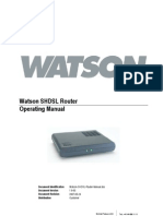 Modem Telefonica Watson SHDSL Router Manual