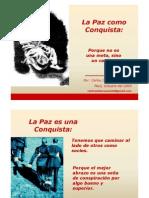 La Paz Como Conquista - Carlos de la Rosa Vidal