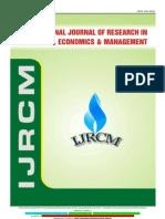 Ijrcm 3 Evol 2 Issue 5 Art 22