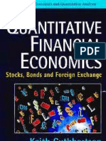 Quantitative Financial Economics Stocks Bonds Foreign Exchange