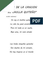 Letra de La Cancion