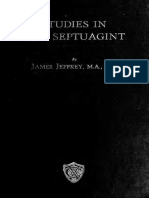 Studies in the Septuagint, The Poetical Books Jeffrey, James