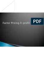 Factor Pricing II-Profit