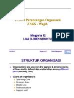 Kuliah 12 Lima Elemen Struktur Organisasi