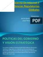 Gobierno en Internet Y Tendencias Regulatorias Globales
