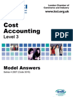Cost Accounting/Series-4-2007(Code-3016)