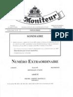 Amendement - La Loi Constitutionnelle du 13 Mai 2011 ( Le Moniteur, Juin 2012)