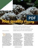 RT Vol. 6, No. 3 Rice quality rising