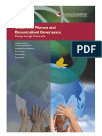 Grassroots Women and Decentralised Governance