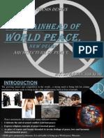 The Fountainhead of World Peace, New Delhi - SPARKLE