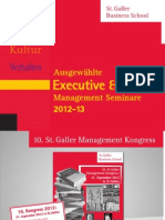 Executive- und Junior Programme 2012 2013
