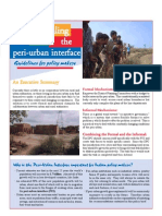 Dealing with the Peri Urban Interface