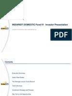 Indiareit Domestic Fund IV Presentation