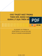 Glossary of Terms in Monitoring , Evaluation and Results Based Management