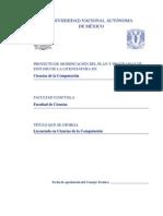 Modificacion plan de estudios ciencias de la computacion UNAM