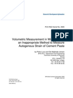 Volumetric Measurement in Water Bath- Inappropriate Method to Meaure Autogenous Strain of Cement Paste-Laura