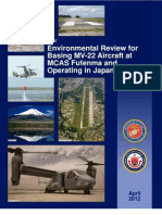 1 Environmental Review for Basing MV-22 Aircraft at MCAS Futenma and Operating in Japan