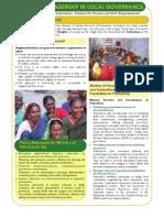 Women's Leadership in Local Governance