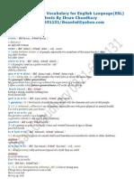 English Language Vocabulary for English Language