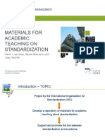 Materials for Academic Teaching on Standardization
