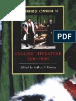 Eglish Literature From 1500