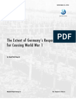 The Extent of Germany's Responsiblity for Causing WW1