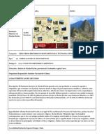 Ficha de Inventario Machu Picchu
