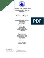 Dallastown Superintendent Search June 2012 - Final Report