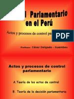 CDG - Control Parlamentario en el Perú. Teoría del proceso y del acto de control parlamentario