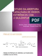 Estudo da abertura catalisada de óxidos estirênicos
