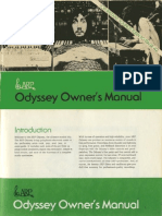 Arp Odyssey Owners Manual