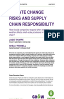 Climate Change Risks and Supply Chain Responsibility: How should companies respond when extreme weather affects small-scale producers in their supply chain?