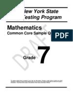 Math Grade 7