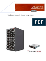 Disaster Recovery in Clustered Storage Servers
