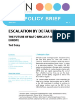 Escalation By Default? The Future of NATO Nuclear Weapons in Europe
