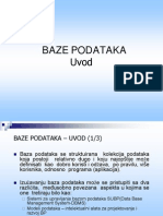 Baze Podataka - Prezentacija Predavanja