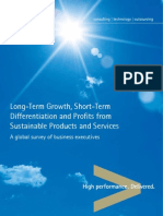 Long-Term Growth, Short-Term Differentiation and Profits from Sustainable Products and Services