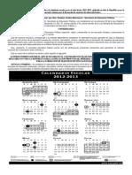 ACUERDO número 638 establece el calendario escolar para el ciclo lectivo 2012