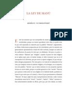 La Ley de Manu (Ananda Coomaraswamy