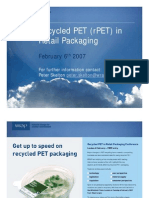 Recycled PET (rPET) in Retail Packaging