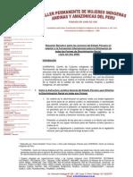 Resumen ejecutivo sobre las acciones del Estado Peruano en relación al CERD