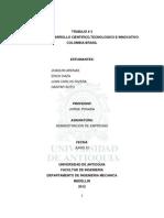 Tercer Trabajo Modelos Tecnologicos Brasil vs Colombia