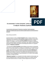 Nota de Prensa #2 - El cortometraje La Gran Conquista, primer paso hacia el rodaje de Numancia, la película