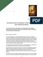 Nota de Prensa #1 - Se estrena en Soria el cortometraje La Gran Conquista, del actor y director Iván Hermes