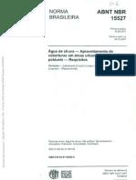 NBR 15527 - Agua de Chuva