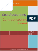 Hard Copy of Contract Costing