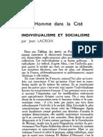 Esprit 1 - 19321001 - Lacroix, Jean - Individualisme Et Socialisme