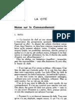 Esprit 1 - 19321001 -  Ulmann, André - Notes sur le commandement