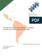 Fundamentos Firma Digital y Su Estado Arte en ALC