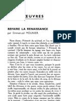 Esprit 1 - 19321001 - Mounier, Emmanuel - Refaire La Renaissance